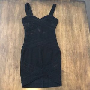 NWT XS/2 BANDAGE BODYCON DRESS H&M